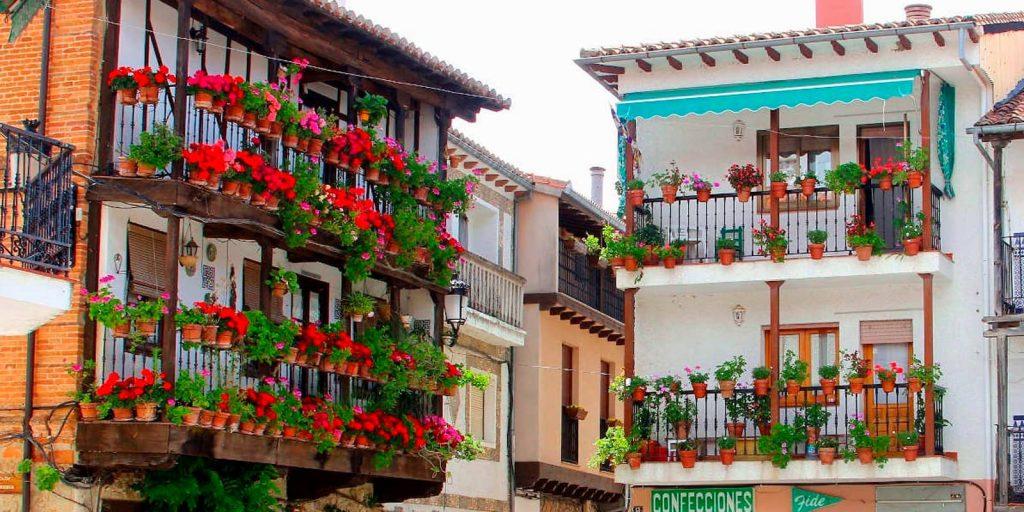 Casa de las flores en Candeleda