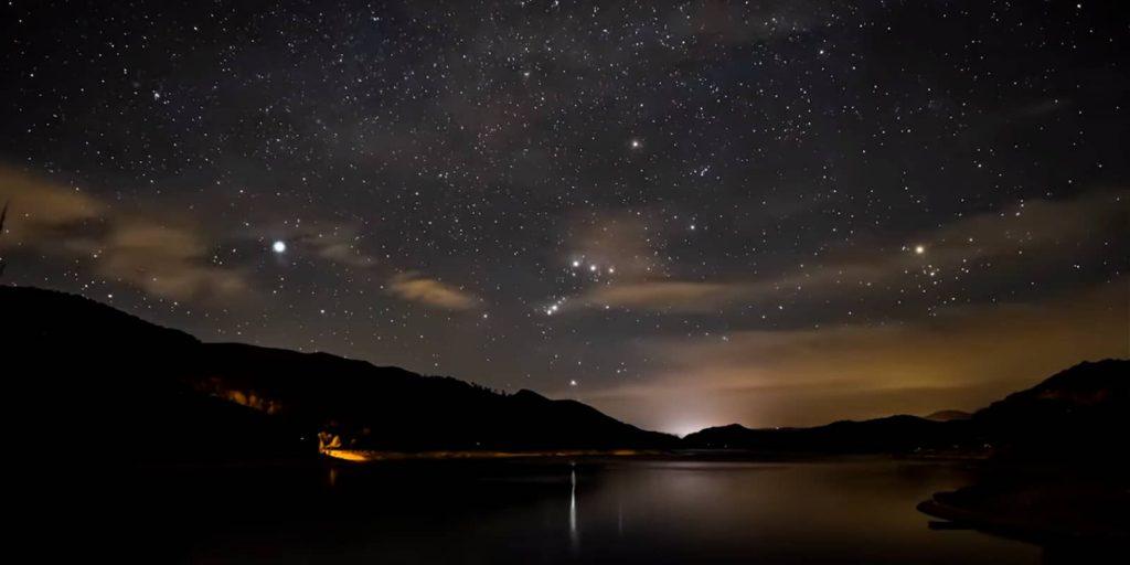 Cielo nocturno de Gredos