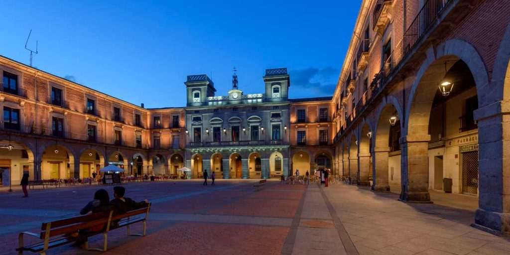 Plaza del ayuntamiento en Ávila