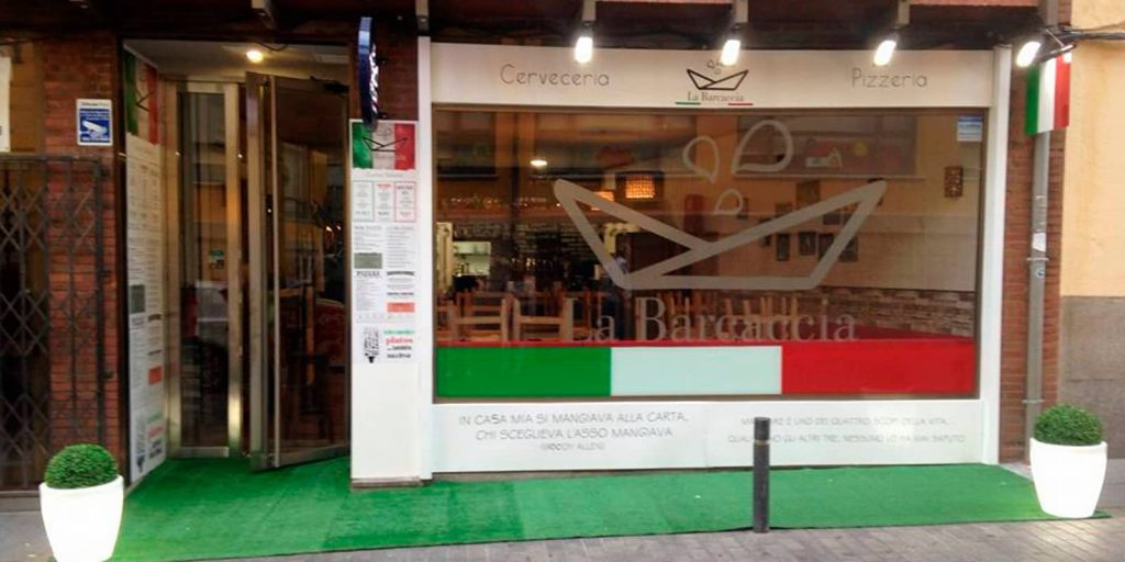 Restaurante italiano en Ávila la Barcaccia